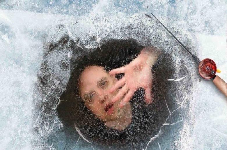 человек подо льдом